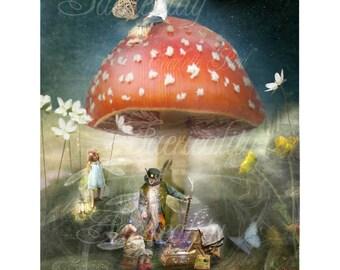 Fairy gift art print   ' The wish 'By Charlotte Bird