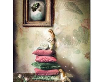 Fairy Print   ' When Shadows fall '