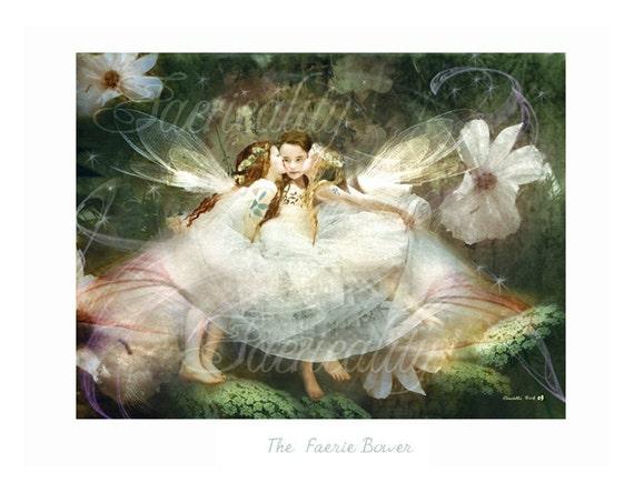 Fairy Art Print  ' The Faerie bower '