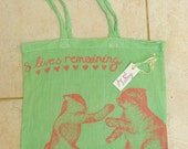 8 Lives.. hand-pulled screen-printed tote