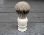 Silvertip badger hair shaving brush with Faux Ivory resin handle