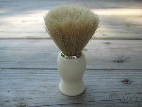 NEW Faux Ivory Horse Hair shaving brush