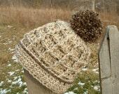 Crochet Hat with Pompom Multi Size Pattern 160