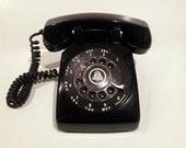 Black Phone Telephone- Rotary phone Working