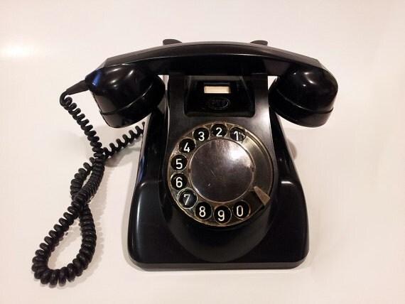 Rotary Phone Telephone - Black Working PTT Holland