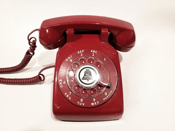 WORKING- Red Rotary Phone