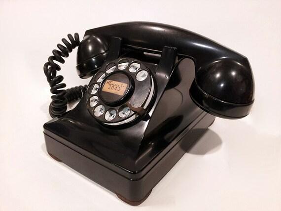 Lucy Phone Telephone- Rotary Phone Black Working 302