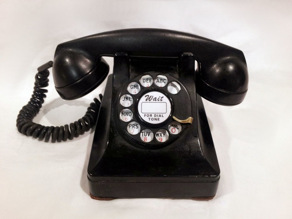 Telephone 1950 WORKING Black Lucy Rot...