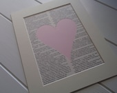 Baby Pink Vintage Dictionary Alphabet letter Art - any letter......