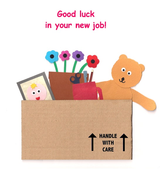 Congratulations Quotes New Job Position: Good Luck In Your New Job Greetings Card By Cardtopleaseuk