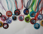 15 Monster High Bottle Cap Necklaces with Nefera,Venus Mcflytrap, Rochelle Goyle, Robecca Steam and more