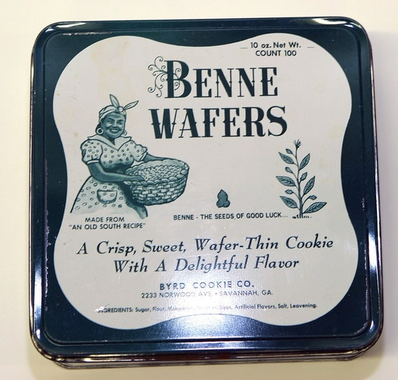 Vintage rare Black Americana Benne Wafers Tin Savannah Ga. The Seeds ...