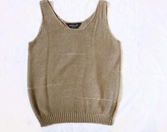 80's Prive Sweater Tank Top