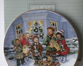"""CLEARANCE SALE ~ Porcelain """"Perfect Harmony"""" Avon  Christmas Collector Plate-1991- with box"""