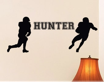 Vinyl Wall Decals Etc: 2 Football Players with Custom Personalized Name
