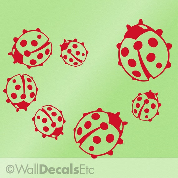 Lady Bug Decal | Ladybug Decal | Lady Bug Wall Decal | Ladybug Wall Decal | Ladybug Kitchen Decor | Vinyl Wall Decal | Spring Decor Decals