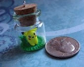 Pikachu Bottle charm, keychain, cell phone charm