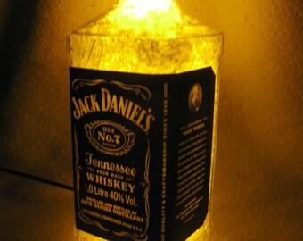 Jack Daniels - empty bottle. If you can we create for you night LED recycled Jack Daniels bottle lamps