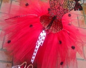 Lady Bug  Tutu with  2  Hairbows