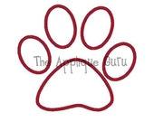 Puppy Paw print Applique Machine Embroidery Design