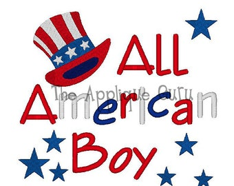 All American Boy  -- Machine Embroidery Design
