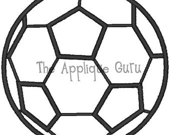 Soccer Ball Applique Machine Embroidery Design