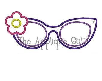 Sunglasses Applique Machine Embroidery Design