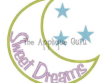 Sweet Dreams  Applique Machine Embroidery Design