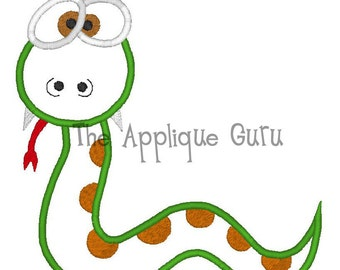 Silly Snake -- Machine Applique Embroidery Design