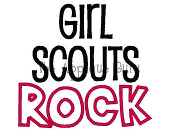Girl Scouts Rock  --  Machine Embroidery Design