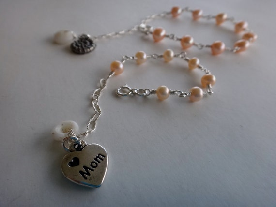 Baby Puka Shell Freshwater Pearl Bracelet