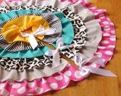Custom Ruffled Tabletop Tree Skirt