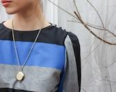 Vintage blue, black, grey dress