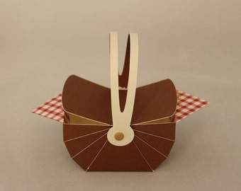 Picnic Basket Favor Box
