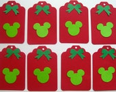 Mickey Mouse Disney inspired Christmas Gift Tags Die Cut Punches