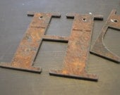 Rustic Metal Letters 6 inch Rusty