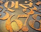 "Address Numbers set 1-12 Rustic 6"""