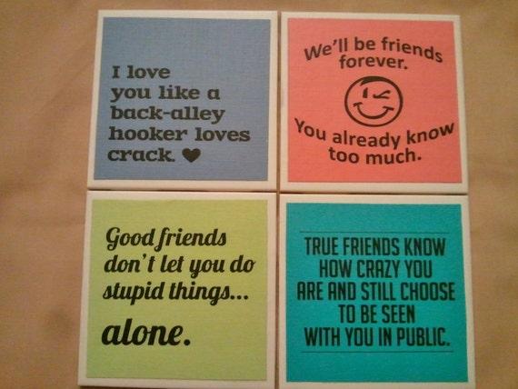 Coasters- FRIENDS  set of 4
