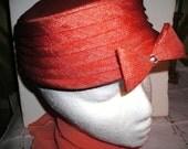 Orange  Straw  Hat /   Rhinestone  Bow