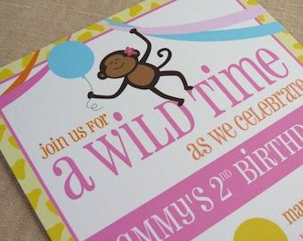 Printable / Zoo Party Invitation