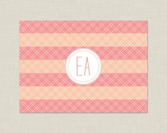 Personalized Stationery Set / Personalized Stationary Set / Bold Stripes Note Cards