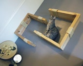 Interactive Pet Wall Art- Natural Pine- Perpendicular