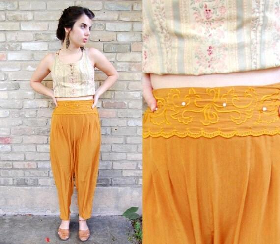 80s Genie Pants - Silk Mustard Yellow / XS - S