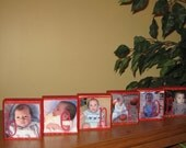 Personalized Baby Nursery Decor Photo Blocks with Child's Name, Baby , Kids Room, ANY number of Blocks OR Saying is Possible Set of 6