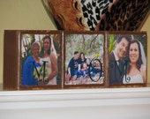 Mothers Day Fathers Day Gifts Christmas Gift PERSONALIZED Photo Blocks Custom Anniversary Gift Ideas Set of 3
