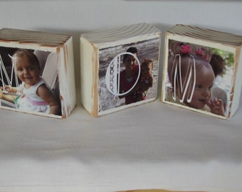 Personalized Mom Christmas Gift Women Mom Gifts for Her Mother Day New Mom Gifts for Mother - Set of 3 Blocks