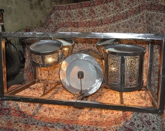 Drum Set Coffee Table,custom coffee table,custom metal table,custom metal work,custom welding,