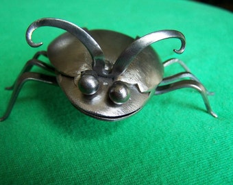Lovely ladybug, silverware sculpture, valentines gift for girlfriend, gifts under 25, gift for her