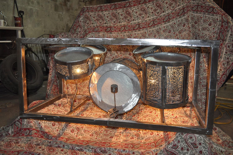 drum set coffee tablecustom coffee tablecustom metal