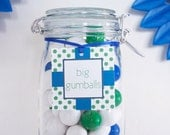 BLUE GREEN Custom Party Printable Hang Tags